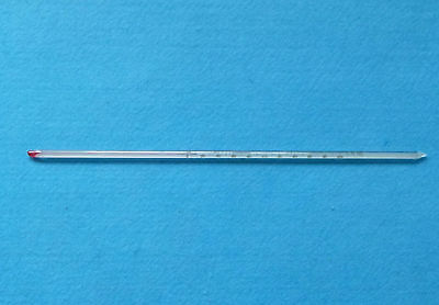 2 Pcs Glass Celsius thermometer,200 C,Length 300mm,Laboratory Glassware