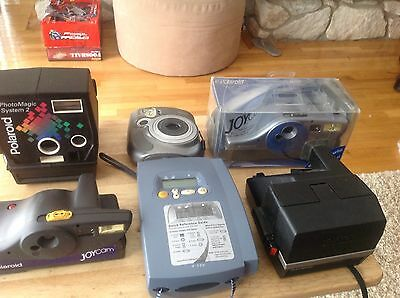 Lot of Polaroid instant cameras and printer