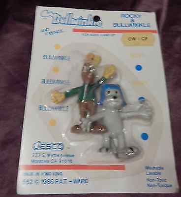 rare Rocky & Bullwinkle bendies from Bullwinkle Series, Jesco 1986, New on Card