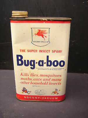 Vintage Bug-a-boo Socony Vacuum Mobil Oil Tin Can
