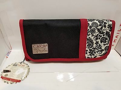 Crop In Style Tool Tote  Foof-a-la New With Tag Red Cream BlackO