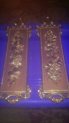Vintage Home Interiors Wall Hangings Home Decor Usa Copper Look #7221 & 7222