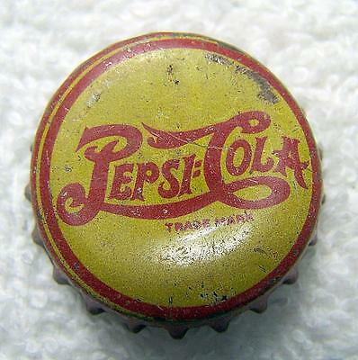 ViNtAgE Pepsi Cola Soda Bottle Caps Yellow and Red Late 1940's Cork Used