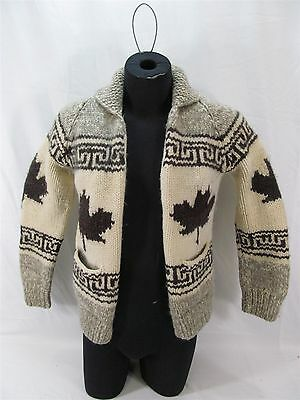 Vintage Cowichan Valley Maple Leaf Heavy Wool Sweater Small