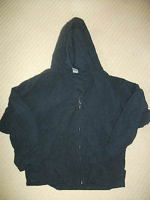 Beautiful Navy blue hooded full zip lined jacket Gymboree size 10-12