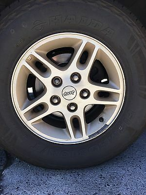 5 X Jeep Grand Cherokee Alloy Wheels And Tyres