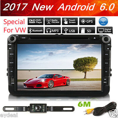 Quad Core Android 6.0 GPS Nav Car DVD Player Stereo Radio For VW PASSAT TOURAN