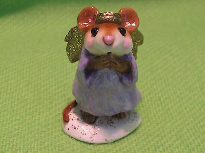 """Wee Foret Folk """"pageant Angel"""" M-145 Pearlized Lavender-Gold Sparkle Wings  #c"""