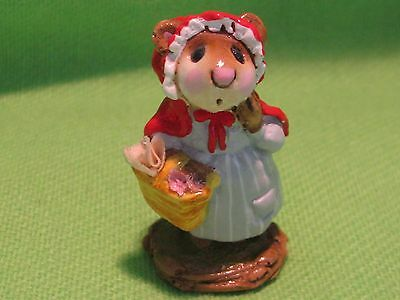 """Wee Forest Folk """"little Red Riding Hood"""" Ft-1 Red Cape-Grey Stripe Dress New #c"""