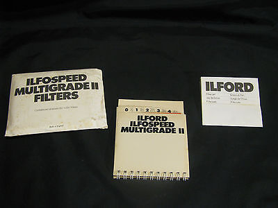 """Ilford Multigrade Ii Filter Set Of 12 - 3 1/2"""" X 3 1/2"""" Filters - Complete Set"""