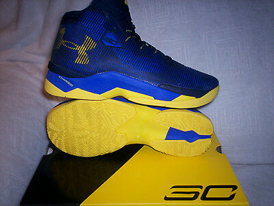 Mens Under Armour Curry 2.5 NIB size 9 Royal/Navy/Taxi yellow 1274425-400