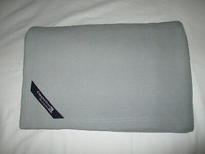 COPA AIRLINES first class blanket SKYTEAM logo travel cabin throw PANAMA grey