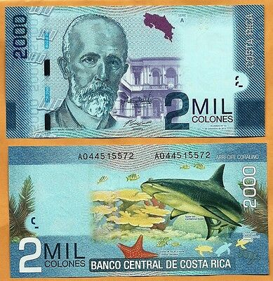 Costa Rica 2013 GEM UNC 2000 Colones Banknote Paper Money Bill P-275