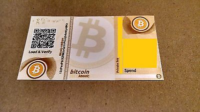 Bitcoin Paper Wallet Loaded With .1 Bitcoins