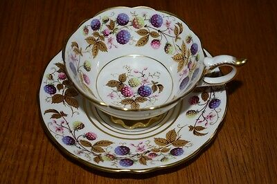 Royal Stafford Tea Cup And Saucer Golden Bramble Teacup Berries