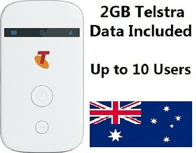 Telstra 4G Pocket Wi-Fi Hot Spot MF90 Mobile Hotspot 2GB data SIM wifi 10 users