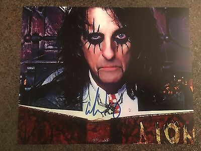 Alice Cooper Hand Signed Autographed Photo