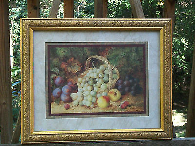 """Home Interiors And Gifts Framed Fruit Picture 13"""" X 16"""""""