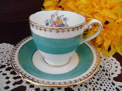 royal grafton  COFFEE SET SIZE CUP & SAUCER  floral design    MADE IN ENGLAND