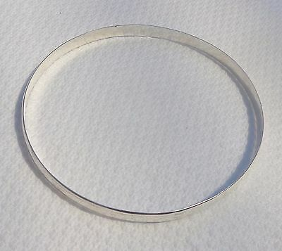 Large size 8 Genuine 925 Sterling Silver Golf Bangle Handmade, Solid,RRP $200