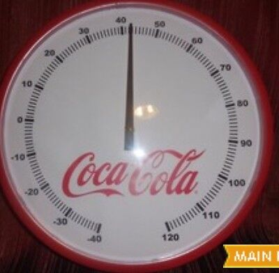 Coca-Cola Thermometer Soda Wall Art Advertising Bar Restaurant Outdoor Coke