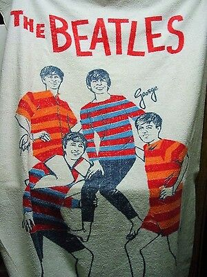 Beatles Original 60's Beach Towel Its One Of The Nicest Ones You Will Ever Find
