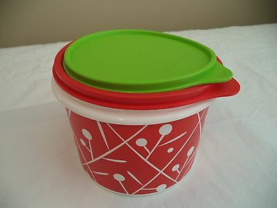 Tupperware Holiday Round Cannister Set NEW