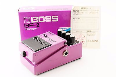 """BOSS BF-2 FLANGER FLANGE GUITAR EFFECTS PEDAL +Box """"Excellent"""" From Japan122575"""