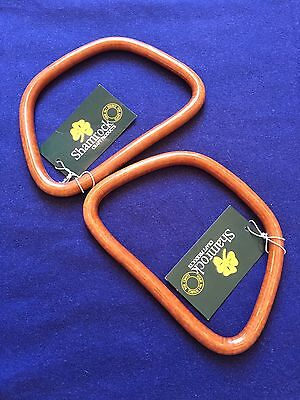 SHAMROCK Handbag/bag purse D-shape Wood Color plastic handles 145mm