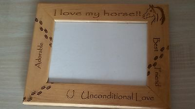 horse lover picture frame