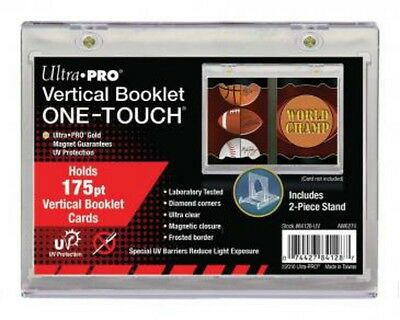 Ultra Pro Vertical Booklet One Touch Card Holder Magnetic UV Protected 175 Point