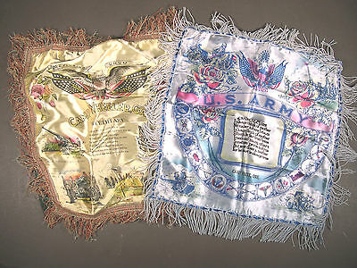 WWII U.S. Army Souvenir PX Pillowcases, Lot of 2