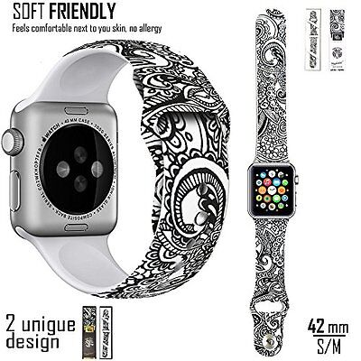 Apple Watch Band 42mm iwatch Silicone Strap Loop Wrist Bracelet Replacement