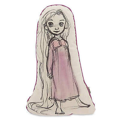 "Disney Store Animators' Collection Rapunzel Sketch Pillow 16"" H NWT"