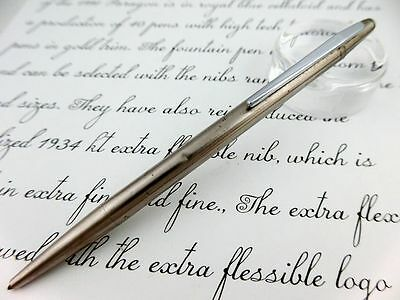 MONTBLANC Ballpoint Pen Stainless SILVER Noblesse GERMANY [JUNK]
