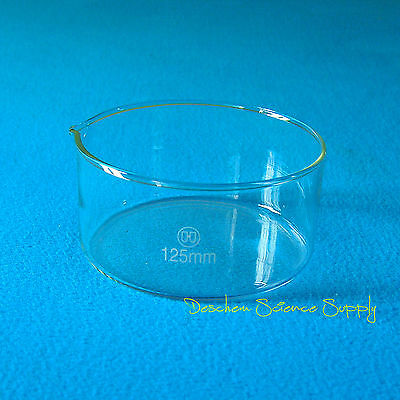125mm*60mm,Glass Crystallizing Dish,Heavy Wall,New Laboratory Chemical Glassware