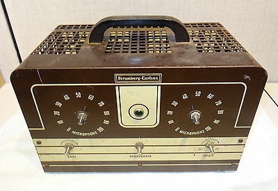 Stromberg Carlson Model 20 6L6 amplifier licensed by Western Electric
