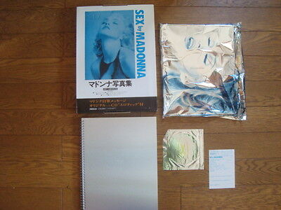 MADONNA SEX Photo Picture Book JAPAN Edition Complete w/ BOX Cover & NEW CD