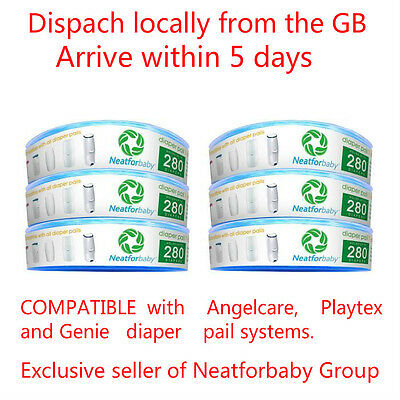 6x Neatforbaby Refill Cassettes Compatible with Angelcare Nappy Disposal System