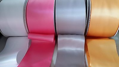"10cm 4"" 100mm DOUBLE FACE SATIN RIBBON 2M"