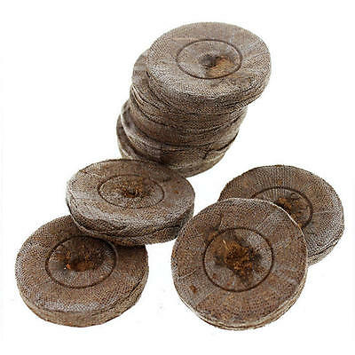 Jiffy Round Coco Peat Propagation Pellet with hole 42mm