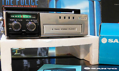 SANYO FT-860 8 TRACK Car Stereo With FM. NUEVO PERFECTO