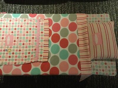 Jam Berry - fitted cot sheet set with blanket, pillow & draw string bag!