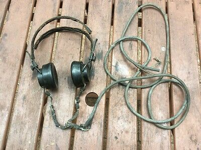 Antique Telephone/Radio Operater Headphones 1930-50s