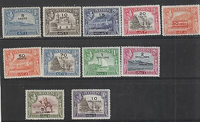Aden , 1951  Currency Change Set Mh