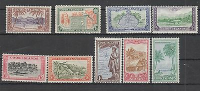 Cook Islands, Sg.150/9 Set Of 9 Mh