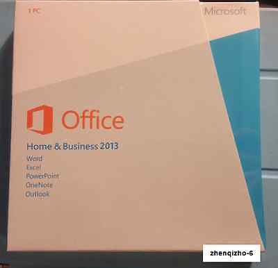 Microsoft Office Home & Business 2013 English Retail DVD with keys -Sealed-
