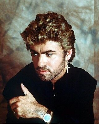 George Michael 8x10 Photo - Star of Wham! Last Christmas / Careless Whisper H284
