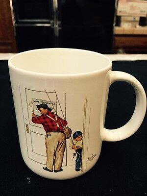 "Norman Rockwell Coffee & Tea Mug-""Closed For Business"" Museum Collection 1987!!!"