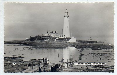 """""postcard St.mary's Island,whitley Bay,northumberland"""""